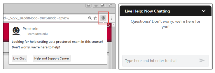 Taking Virtually Proctored Tests :: UNM Learn Help Resources