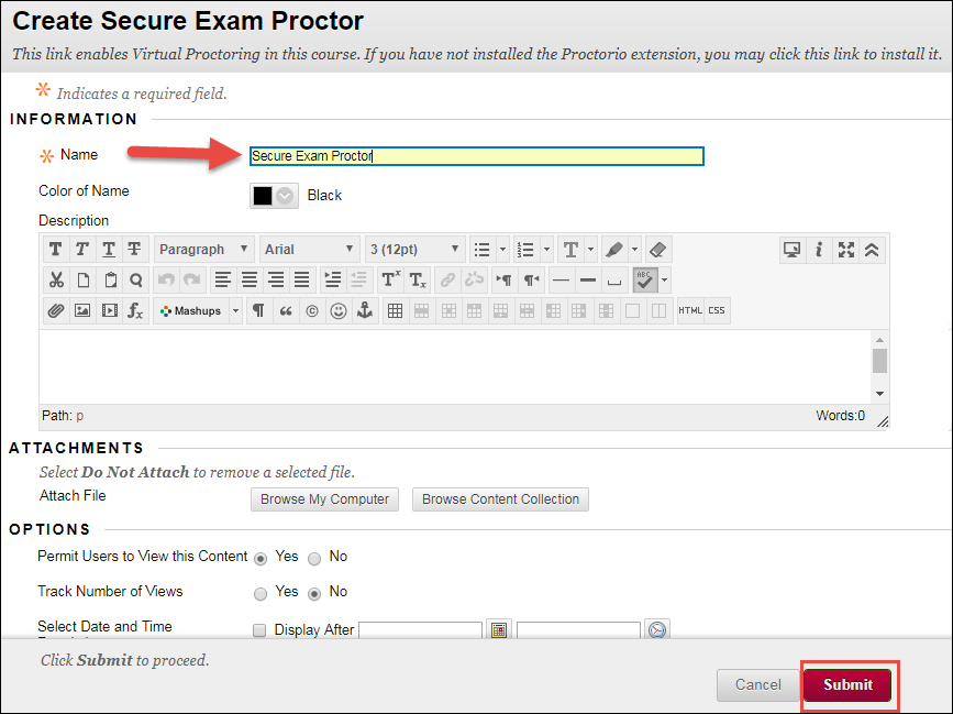 Getting Started with Virtual Proctoring :: UNM Learn Help